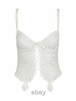 2Pc Set For Love & Lemons Eyelet Bustier + Panty Thong Victorias Secret S Small