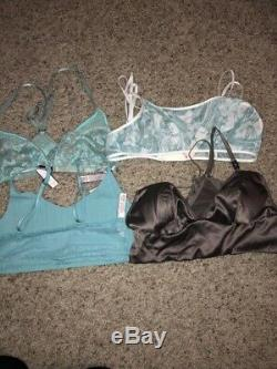NWT Wholesale VICTORIAS SECRET Unlined Bralette Bras Small Authentic (50) Lot
