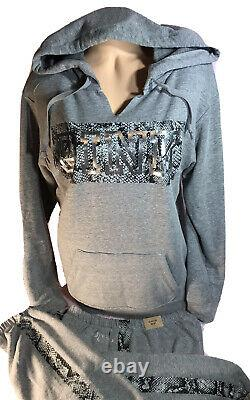 Victoria Secret PINK Pullover Hoodie Sweatshirt & Joggers SetOversized Foil