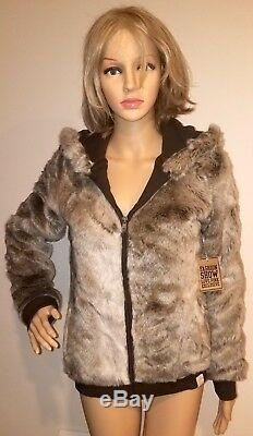 Victorias Secret LOVE Pink Size SMALL /P Fur Jacket Coat LIMITED EDITION