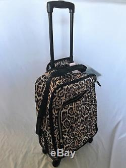 Victorias Secret Leopard Soft Wheelie Carry On Travel Luggage Nwt