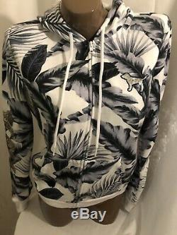 Victorias Secret PINK Floral Themed Zip Up BLING SEQUIN PINK GRAPHICS HOODIE NWT