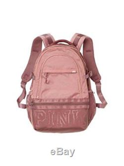 Victorias Secret Pink Collegiate Backpack NEW Color Perfectly Pink With Cocoa