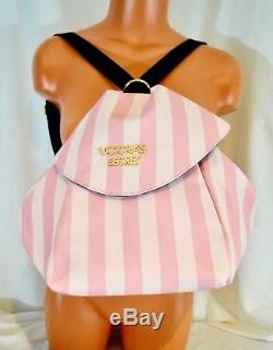 Victorias Secret Supermodel ICONIC STRIPE Backpack STUNNING Tote Bag Purse NWT